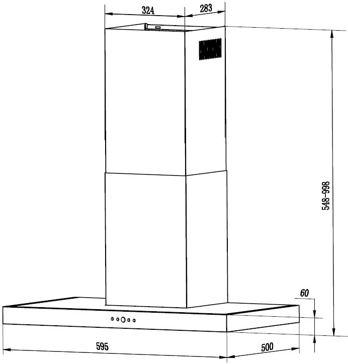 Coifa de Parede Linea Touch Franke 60cm 127V