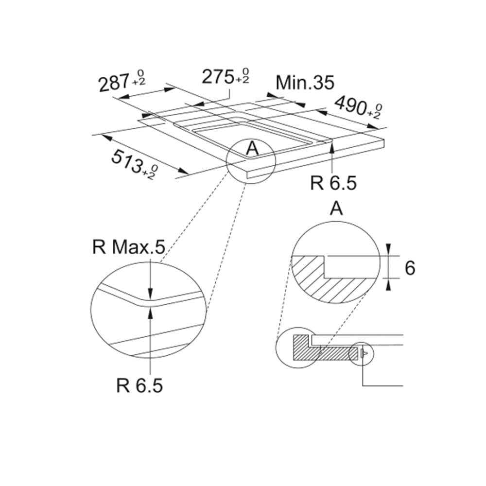 Cooktop de indução c/ 2 Zonas FSM 302 Display Touch 28x51 - 220V